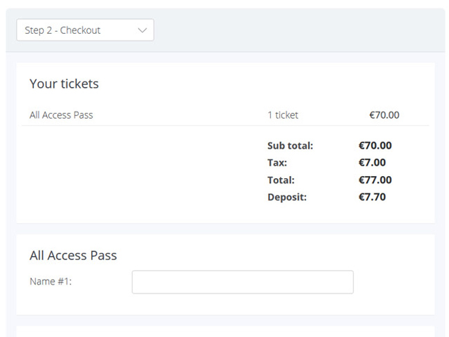 Event Ticketing System Screenshot 2