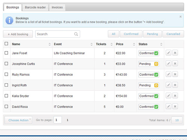 Event Ticketing System Screenshot 4