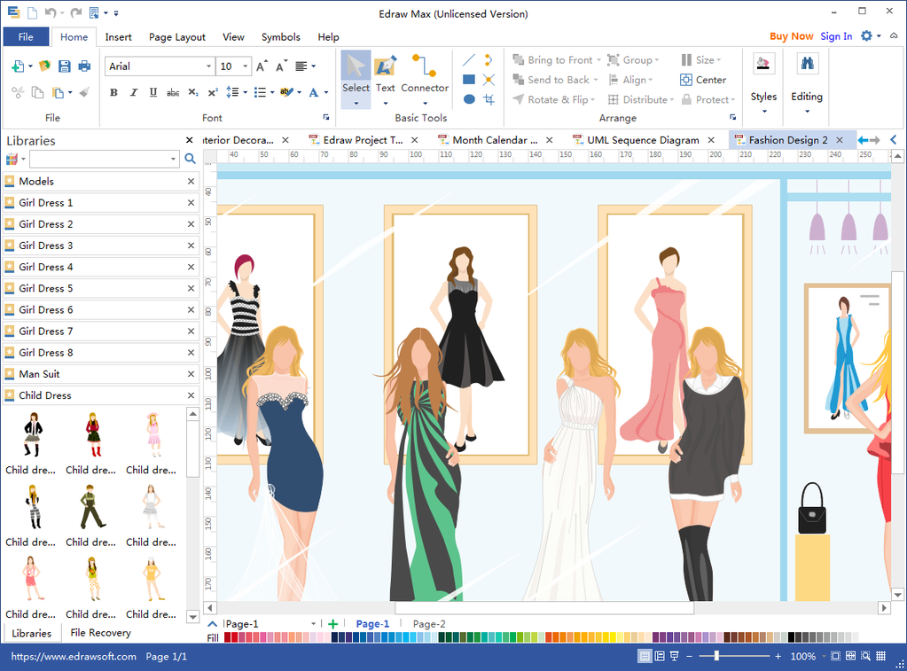 Fashion Sketches Screenshot