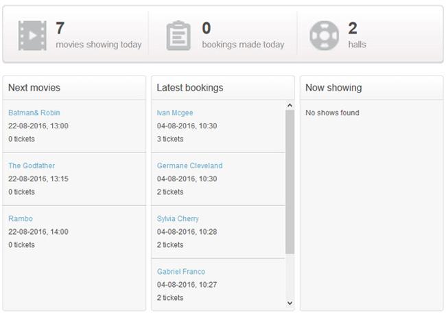 Cinema Booking System Screenshot 4