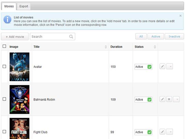 Cinema Booking System Screenshot 7