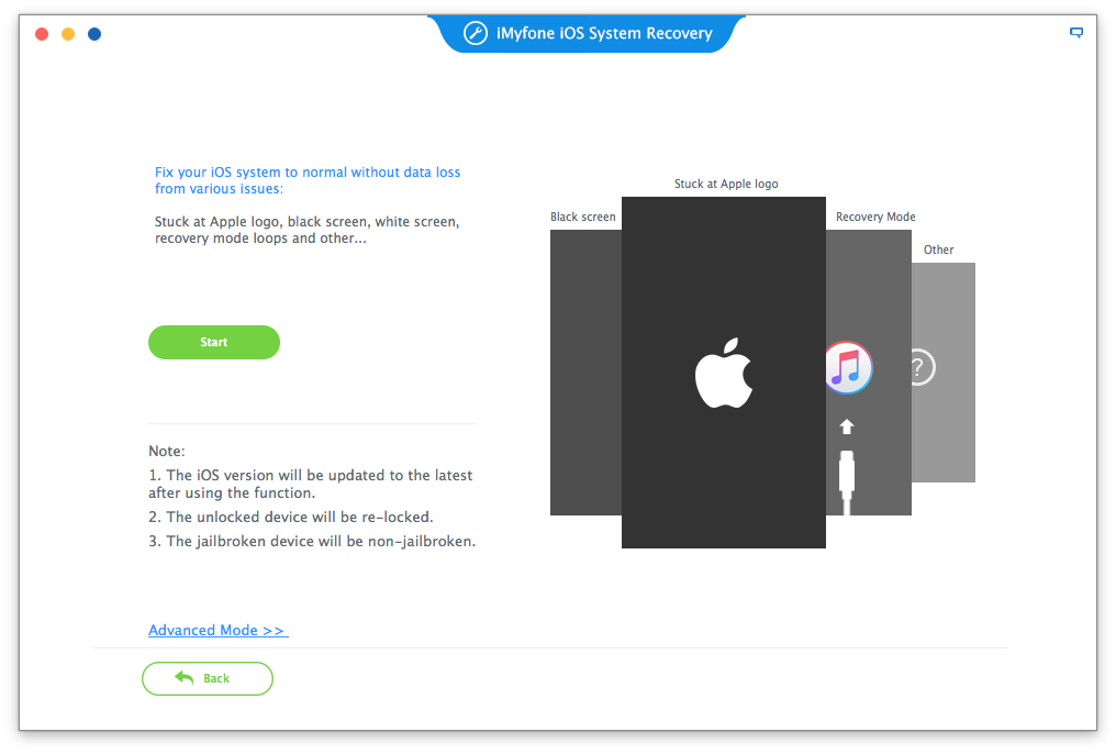 iMyFone iOS System Recovery for Mac Screenshot 3