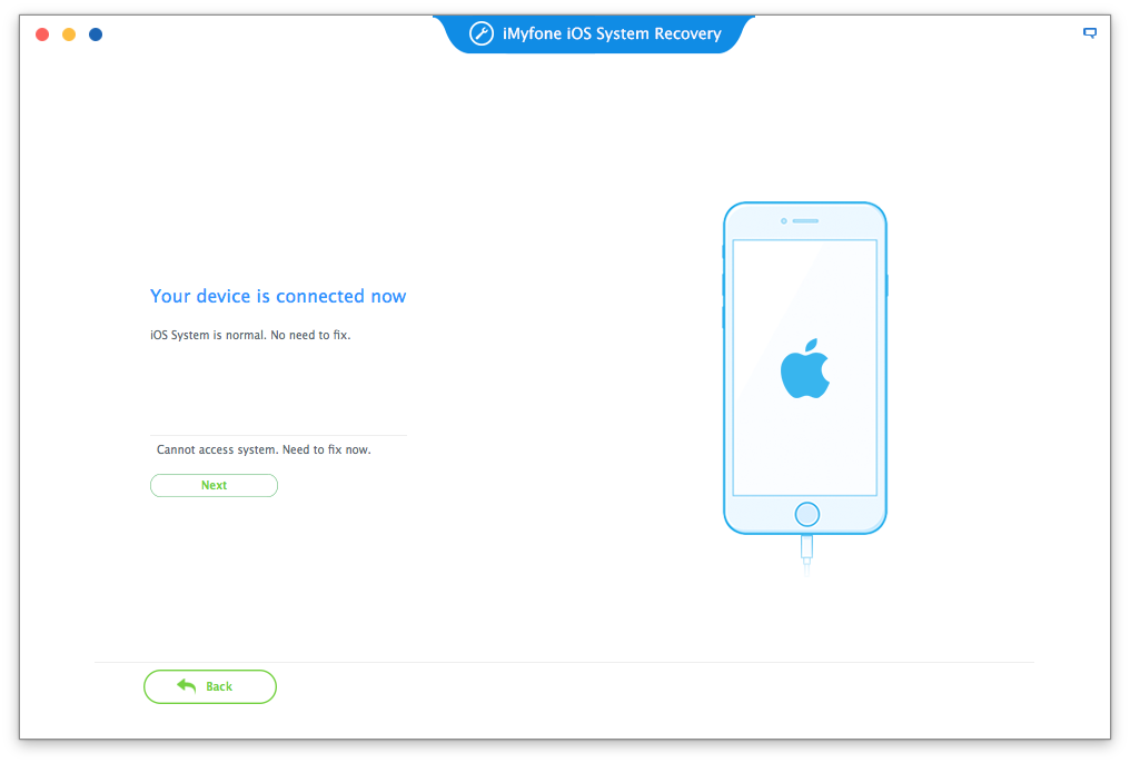 iMyFone iOS System Recovery for Mac Screenshot 2