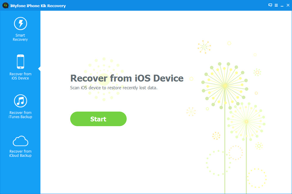 iMyFone iPhone Kik Recovery Screenshot 2