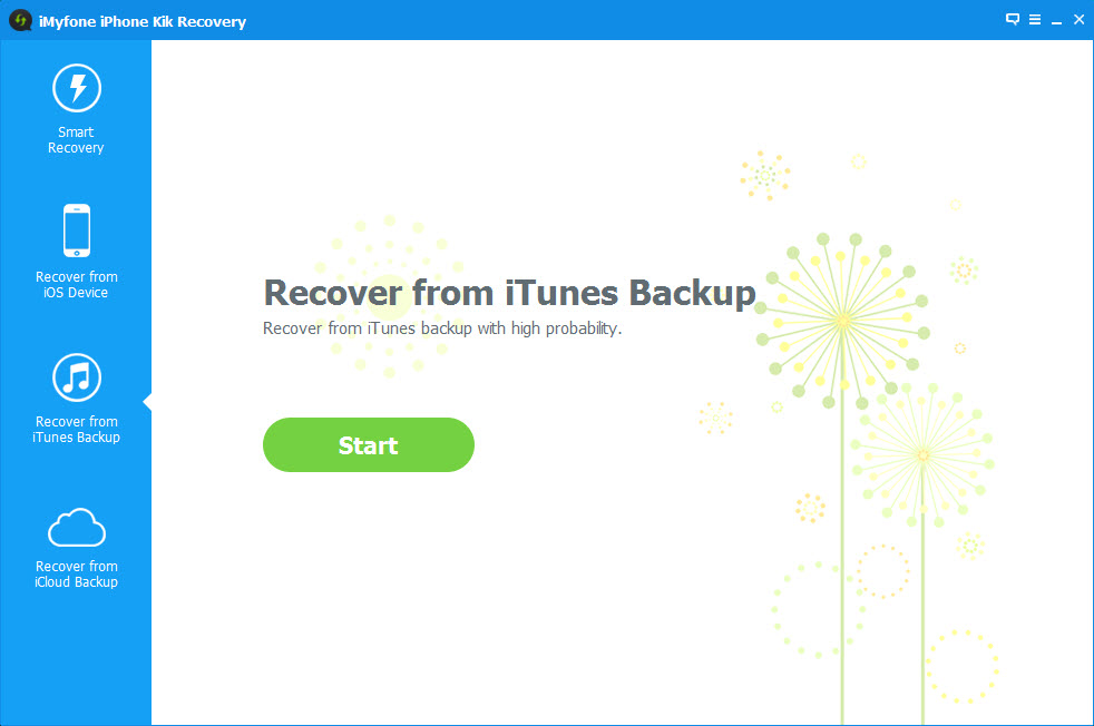 iMyFone iPhone Kik Recovery Screenshot 5
