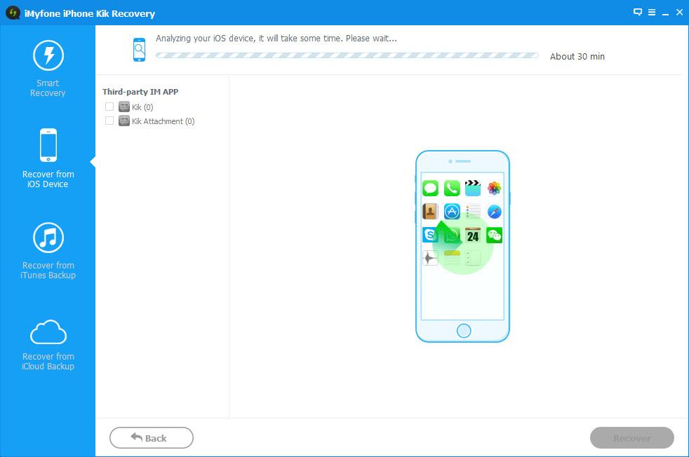 iMyFone iPhone Kik Recovery Screenshot 3