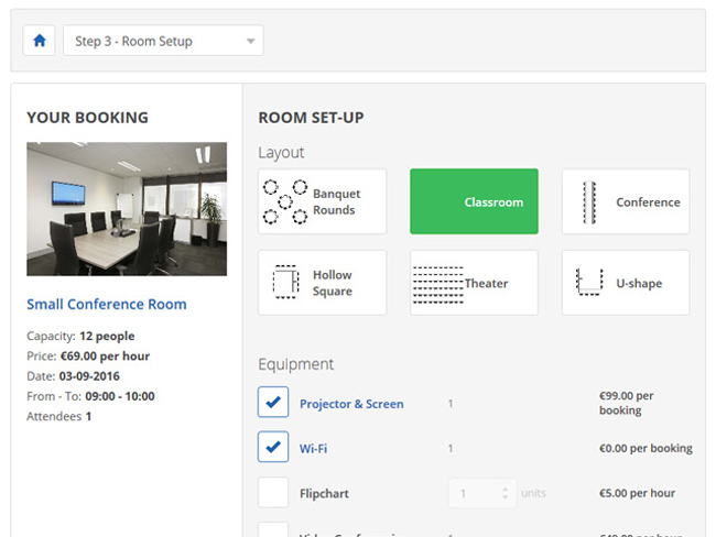 Meeting Room Booking System Screenshot