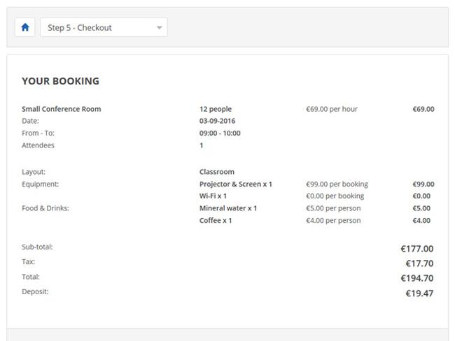 Meeting Room Booking System Screenshot 3