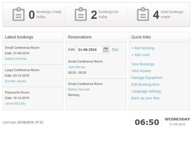 Meeting Room Booking System Screenshot 7
