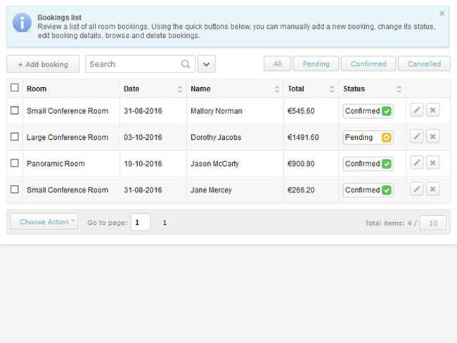 Meeting Room Booking System Screenshot 8