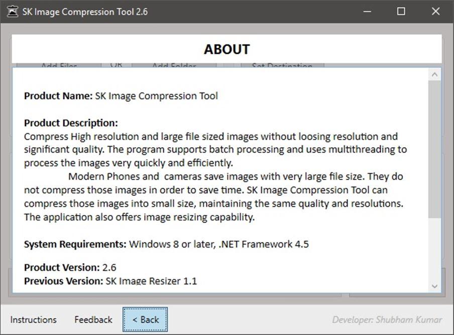 SK Image Compression Tool Screenshot 3
