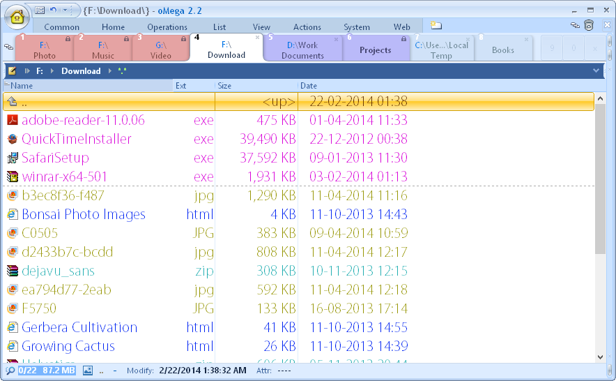 oMega Commander Screenshot 3