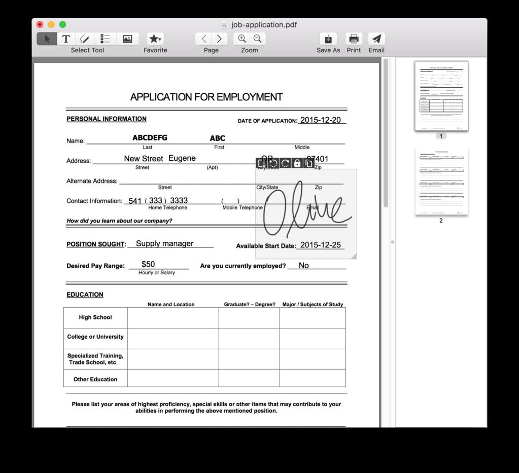 Lighten Sign PDF for Mac Screenshot 1