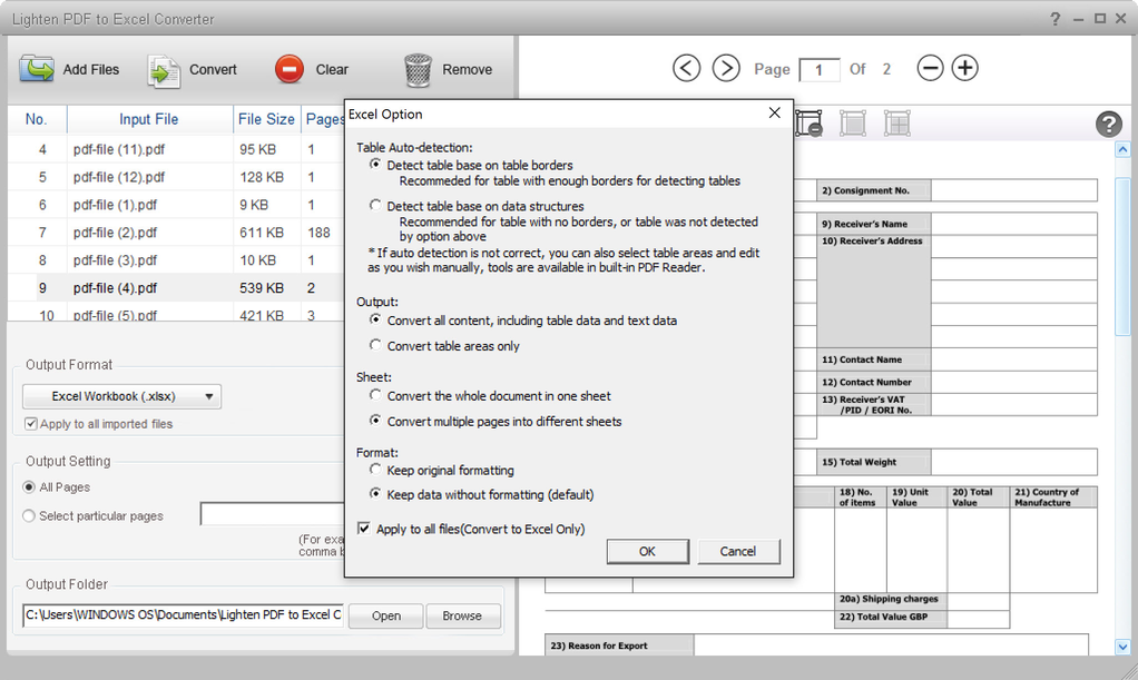 pdf to excel converter portable download