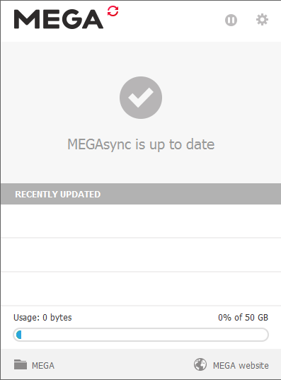 MEGAsync Screenshot