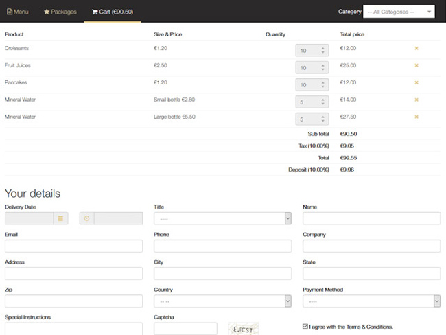 Catering System Screenshot 10