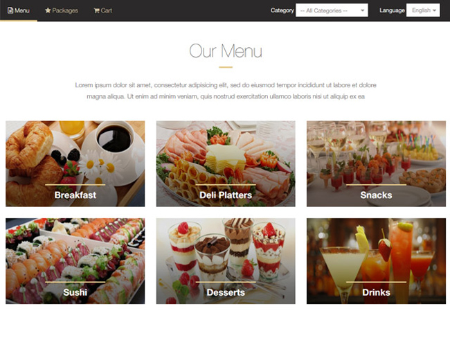 Catering System Screenshot 6