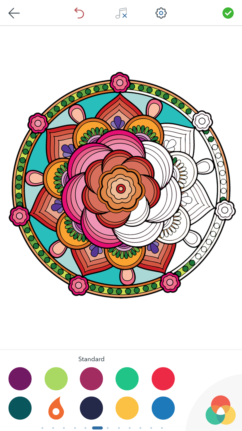 Mandala Coloring Pages Screenshot 2