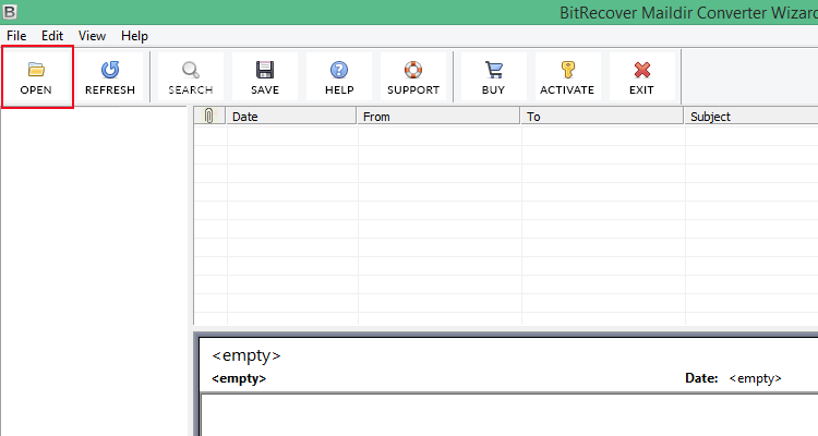 Maildir Converter Screenshot