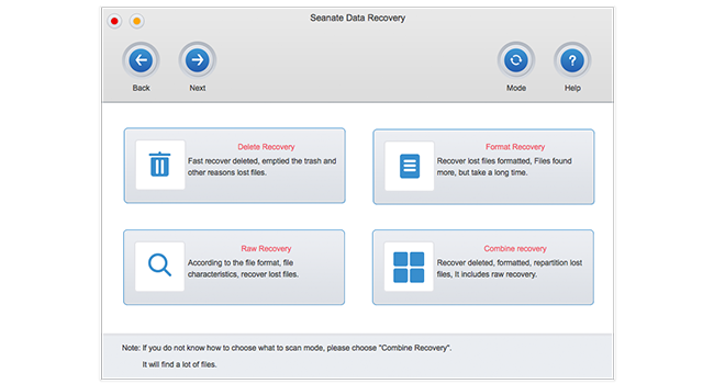 Seanate Data Recovery For Mac Screenshot 1