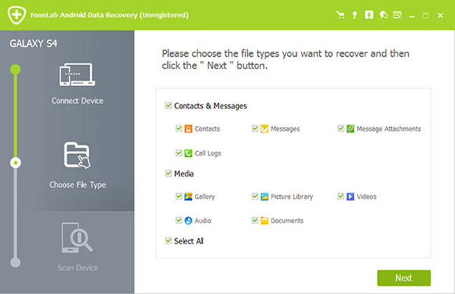 FoneLab Android Data Recovery Screenshot