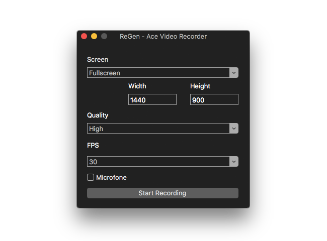 ReGen - Ace Video Recorder Screenshot