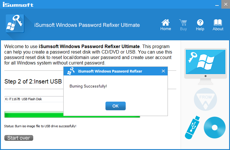 iSumsoft Windows Password Refixer Screenshot 2