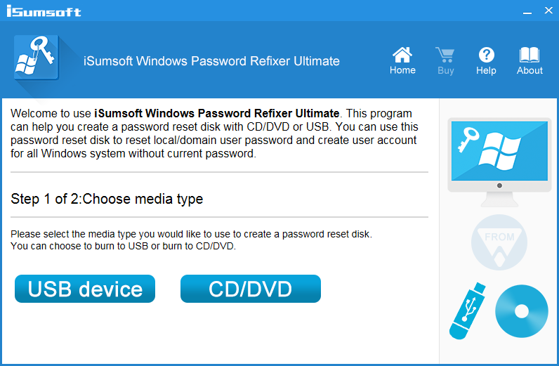 iSumsoft Windows Password Refixer Screenshot
