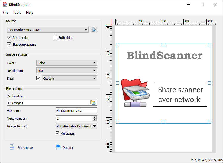 BlindScanner Screenshot 2