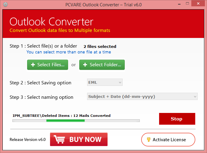 Outlook PST Converter Screenshot