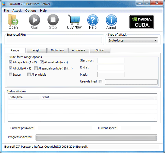 iSumsoft ZIP Password Refixer Screenshot