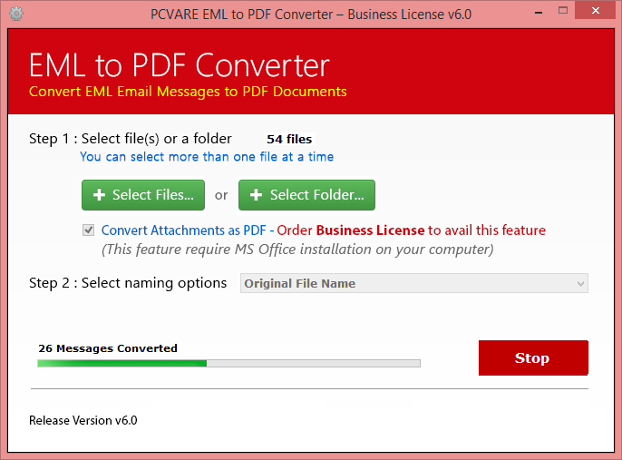 EML to PDF Converter Screenshot 3