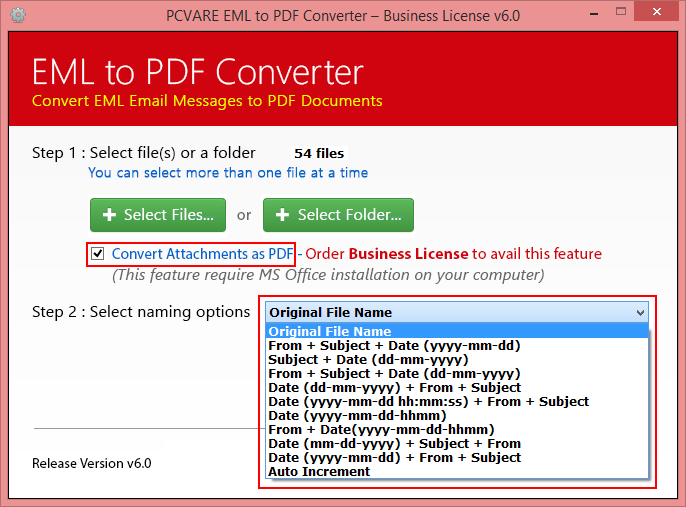 EML to PDF Converter Screenshot 2