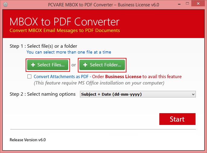 MBOX to PDF Converter Screenshot 3