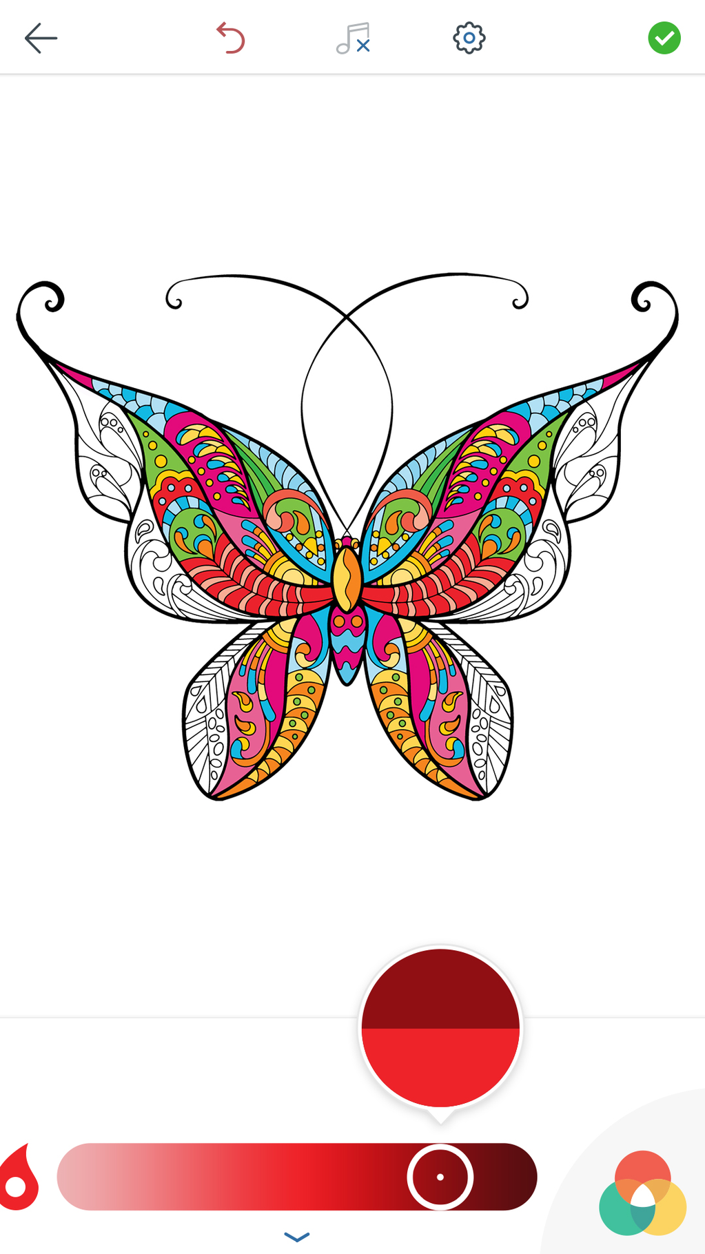 Adult Butterfly Coloring Pages Screenshot 3