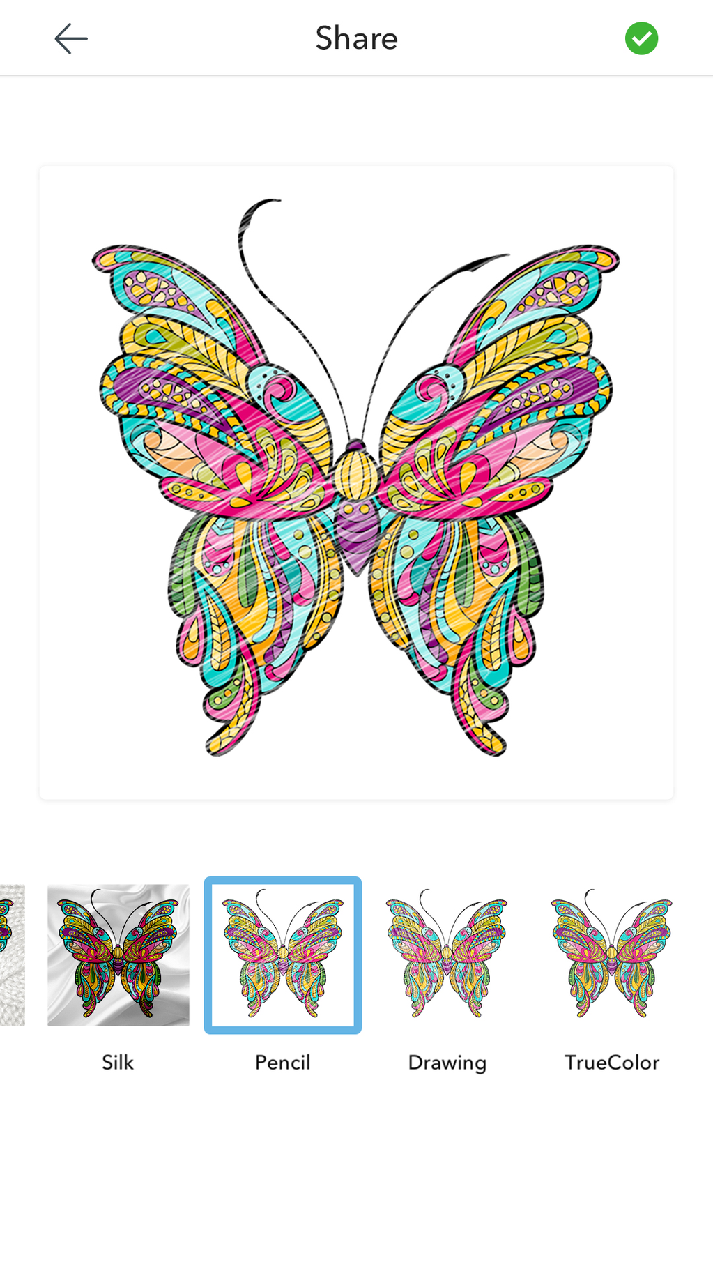 Adult Butterfly Coloring Pages Screenshot 2