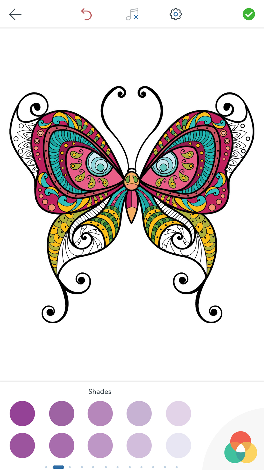 Adult Butterfly Coloring Pages Screenshot 4