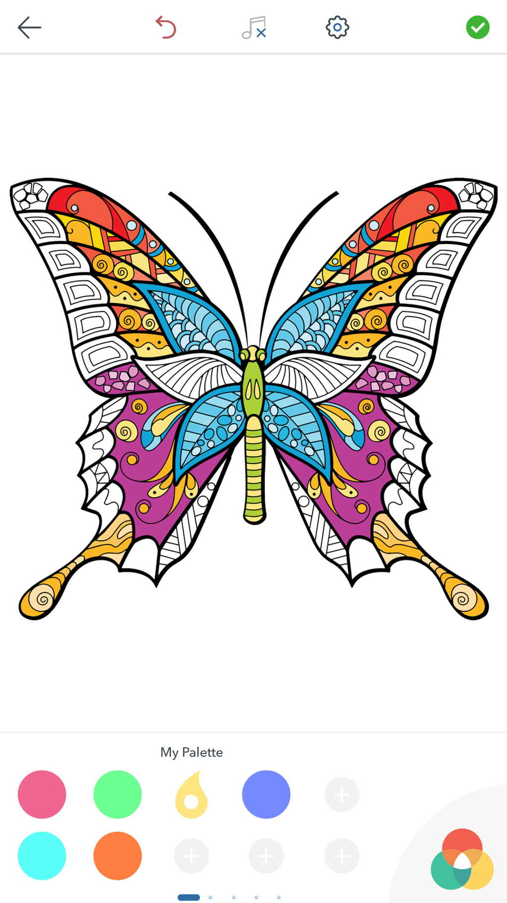 Adult Butterfly Coloring Pages Screenshot 5