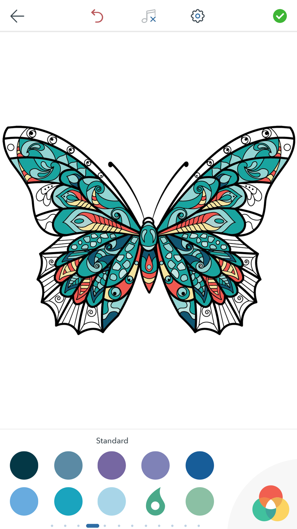 Adult Butterfly Coloring Pages Screenshot 6