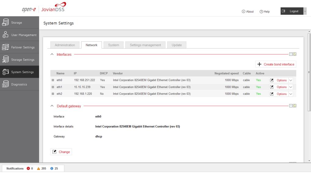 Open-E Jovian Data Storage Software (JovianDSS) Screenshot 3