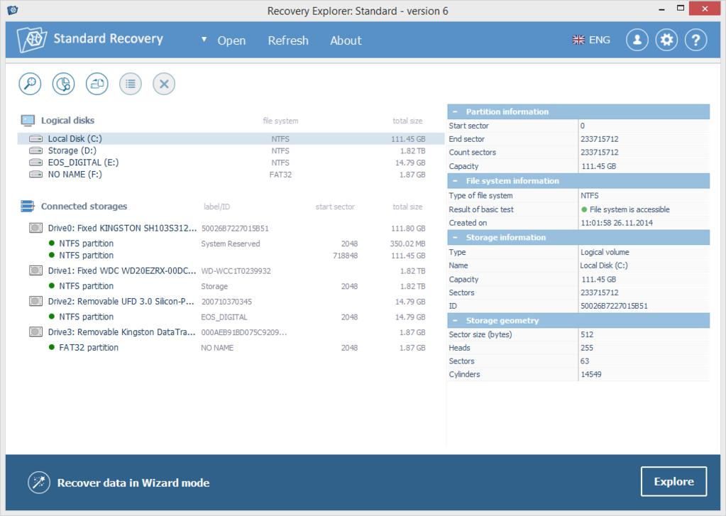 Recovery Explorer Standard - MacOS Screenshot