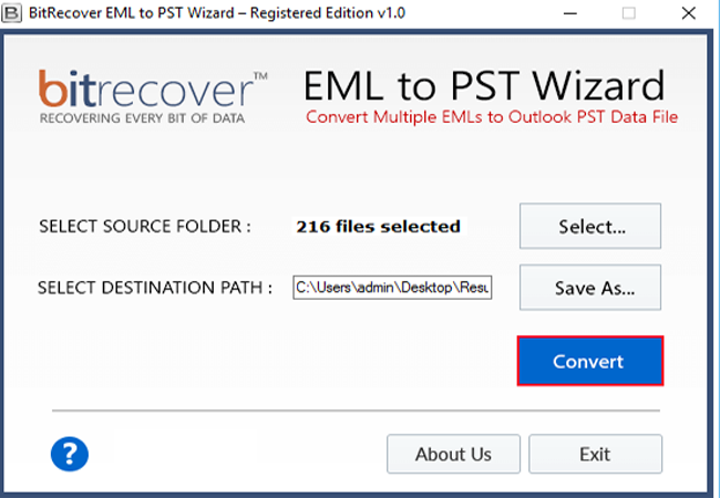EML to PST Wizard Screenshot 3