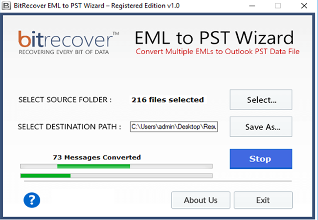 EML to PST Wizard Screenshot 4
