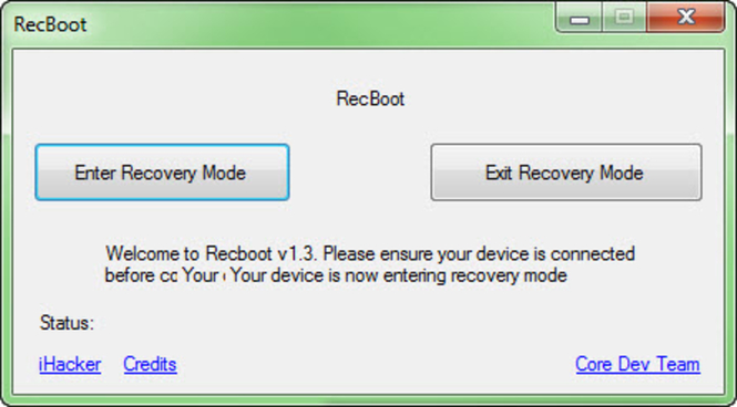 RecBoot Screenshot 2