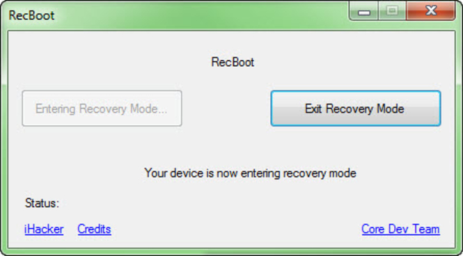 RecBoot Screenshot