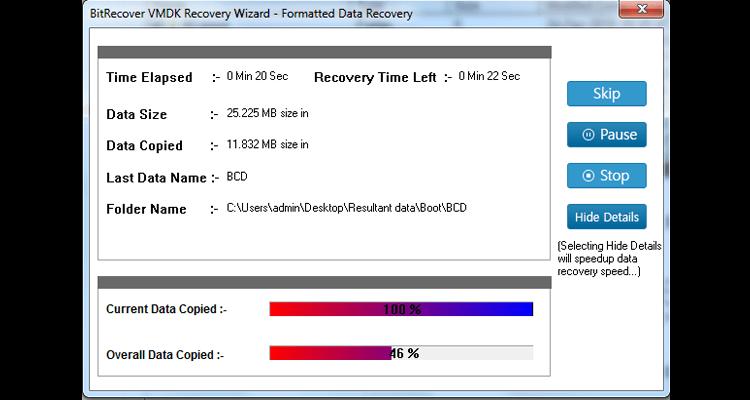 VMDK Recovery Software Screenshot 4