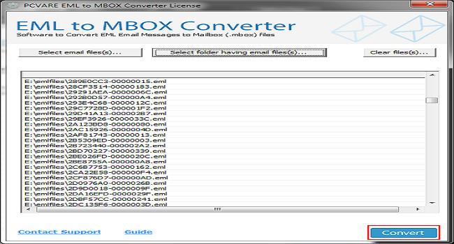 PCVARE EML to MBOX Screenshot