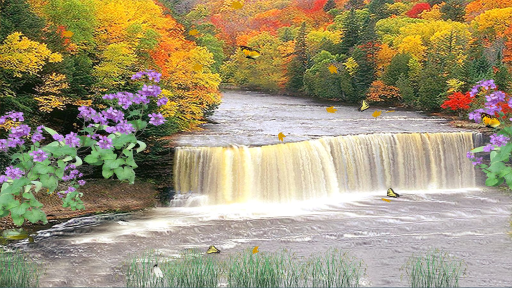 Autumn Waterfall Screenshot