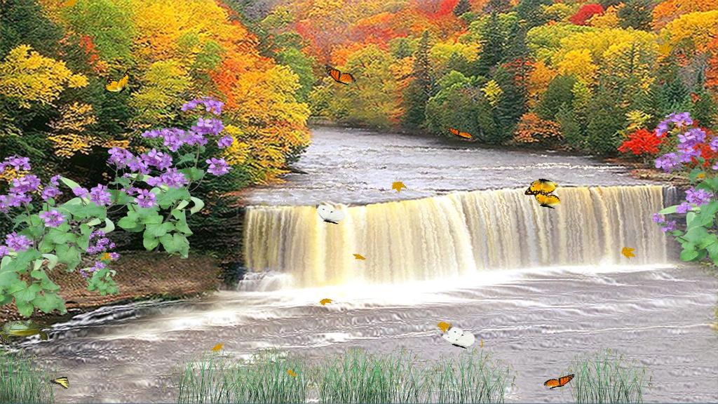 Autumn Waterfall Screenshot 2