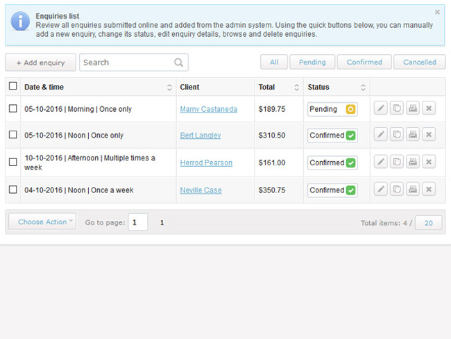 Cleaning Business Software Screenshot 5